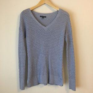 American Eagle V Neck Open Knit Sweater